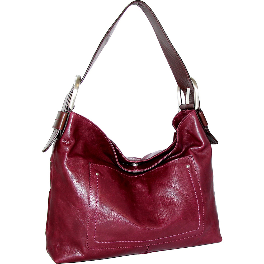 Nino Bossi Heidi Hobo Plum - Nino Bossi Leather Handbags - Handbags, Leather Handbags