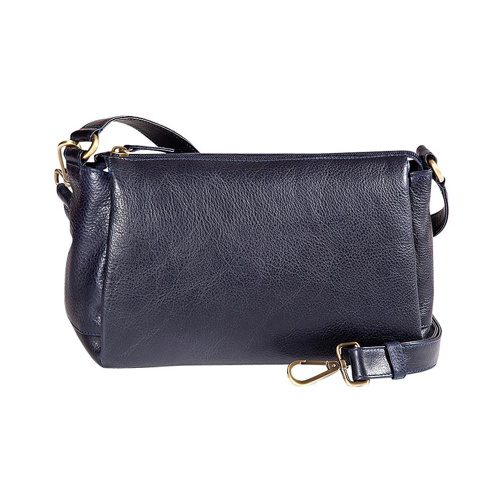 Derek Alexander EW Top Zip Satchel Navy - Derek Alexander Leather Handbags - Handbags, Leather Handbags