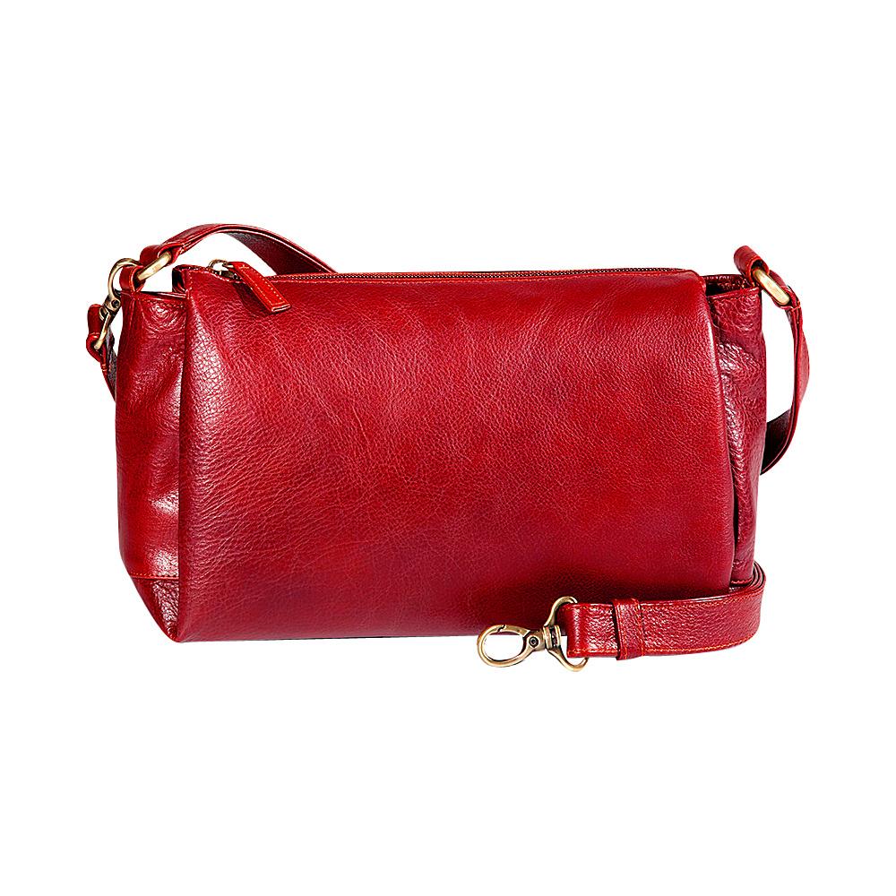 Derek Alexander EW Top Zip Satchel Red - Derek Alexander Leather Handbags - Handbags, Leather Handbags