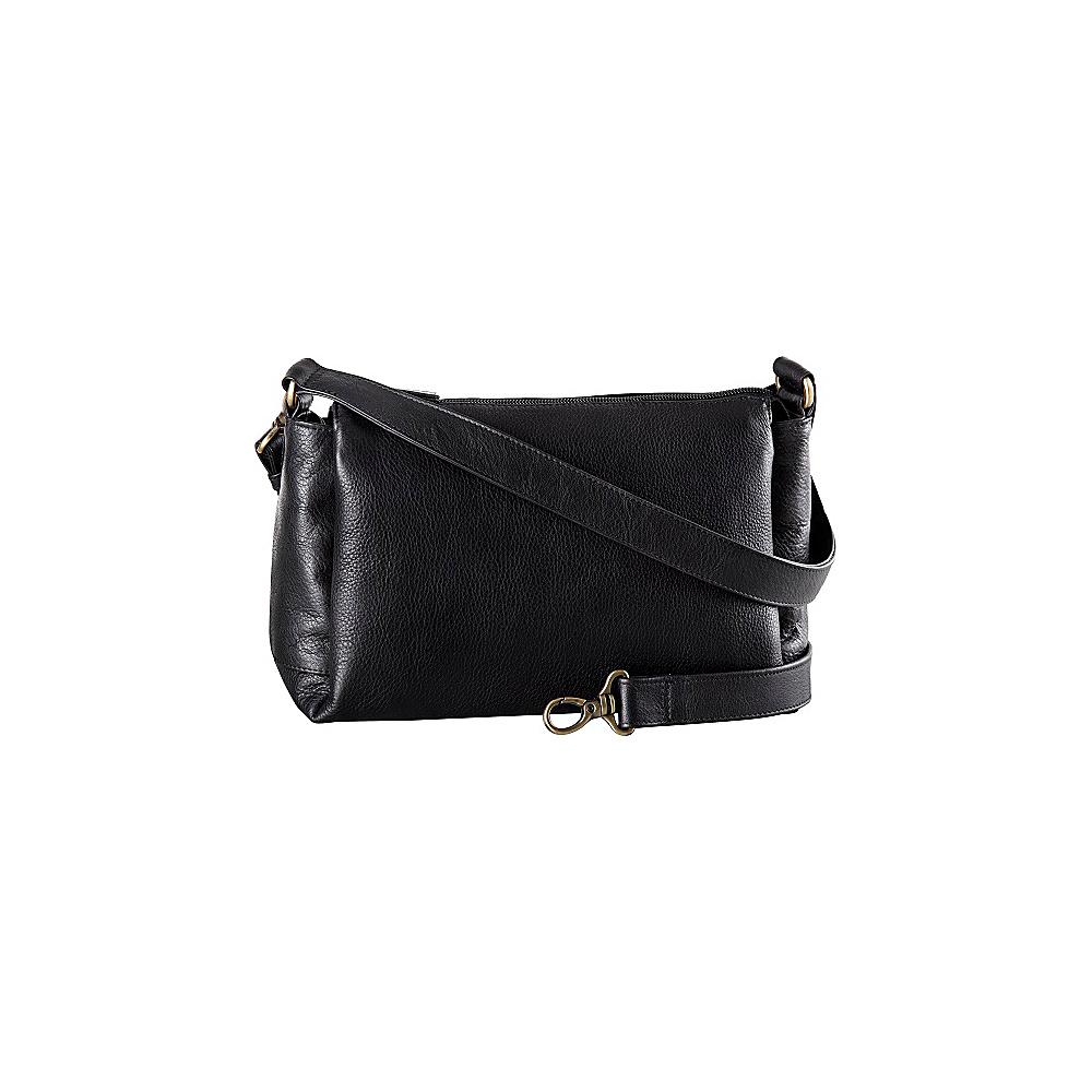Derek Alexander EW Top Zip Satchel Black - Derek Alexander Leather Handbags - Handbags, Leather Handbags