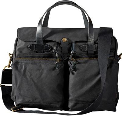 Filson 24-Hour Tin Briefcase Black - Filson Non-Wheeled Business Cases
