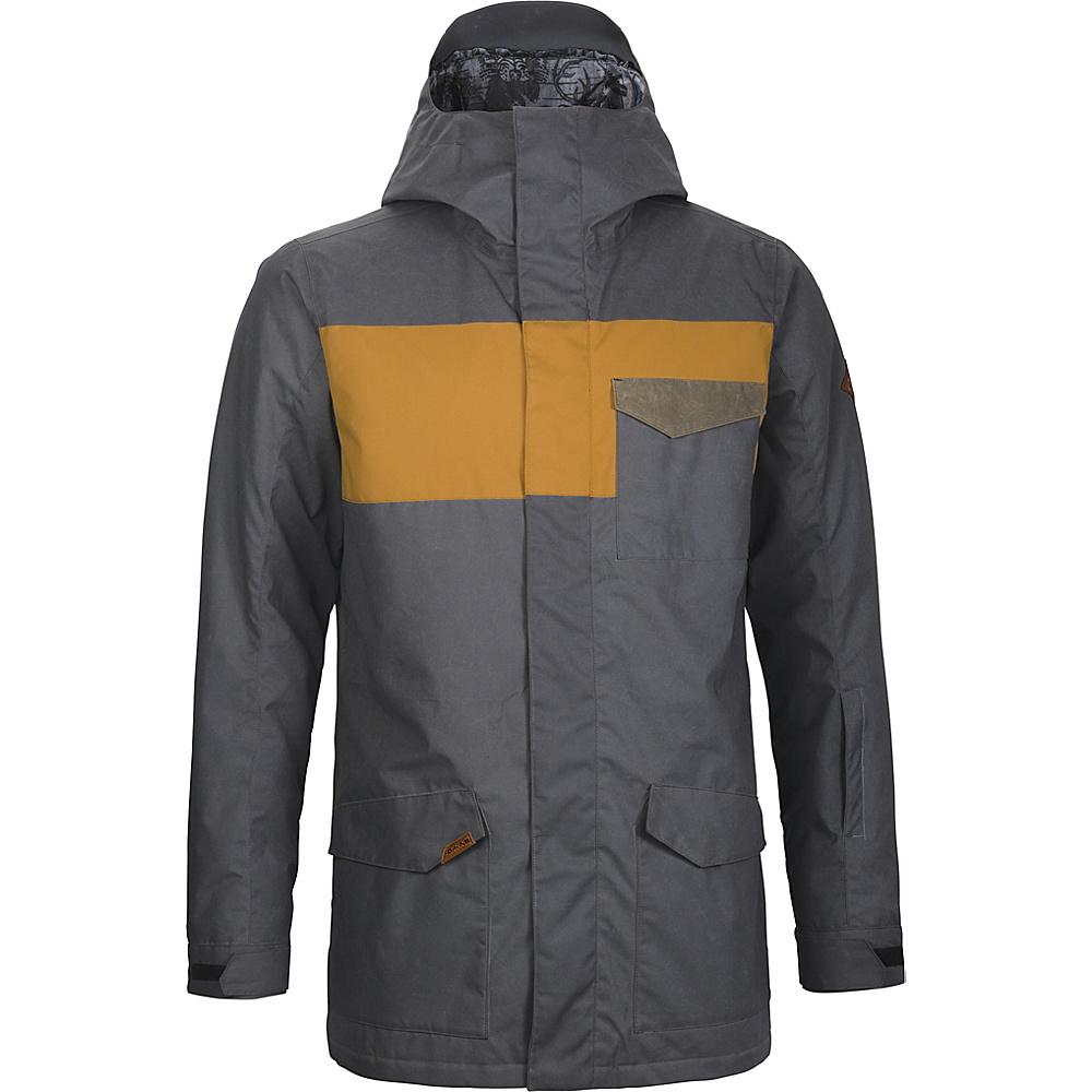 DAKINE Mens Elsman Jacket L - Black / Buckskin / Tarmac - DAKINE Mens Apparel - Apparel & Footwear, Men's Apparel