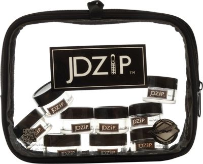 JDZip Set of 9 Clear Acrylic Travel Jars Black and Grey - JDZip Travel Health & Beauty