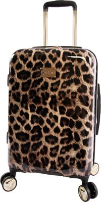 BEBE Adriana 21 inch Hardside Carry-On Spinner Luggage Leopard - BEBE Softside Carry-On