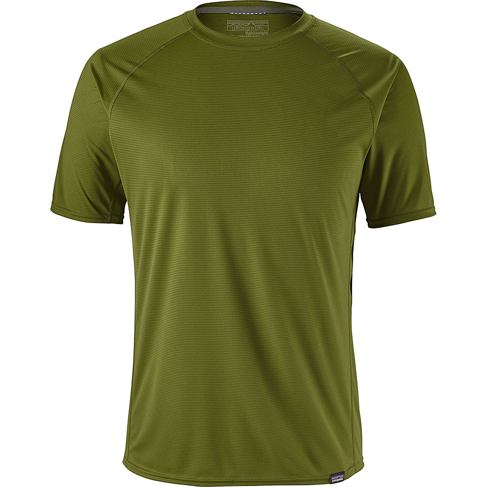 Patagonia Mens Cap LW T-Shirt L - Sprouted Green - Patagonia Mens Apparel - Apparel & Footwear, Men's Apparel