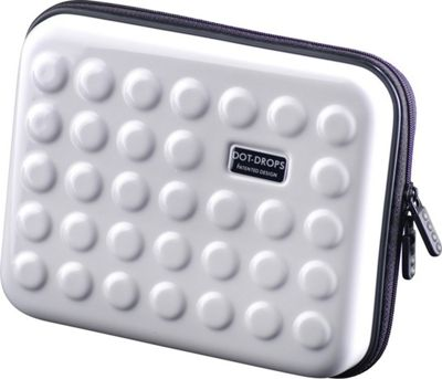 Dot Drops Chapter 2 Small Rigid Case White - Dot Drops Travel Organizers