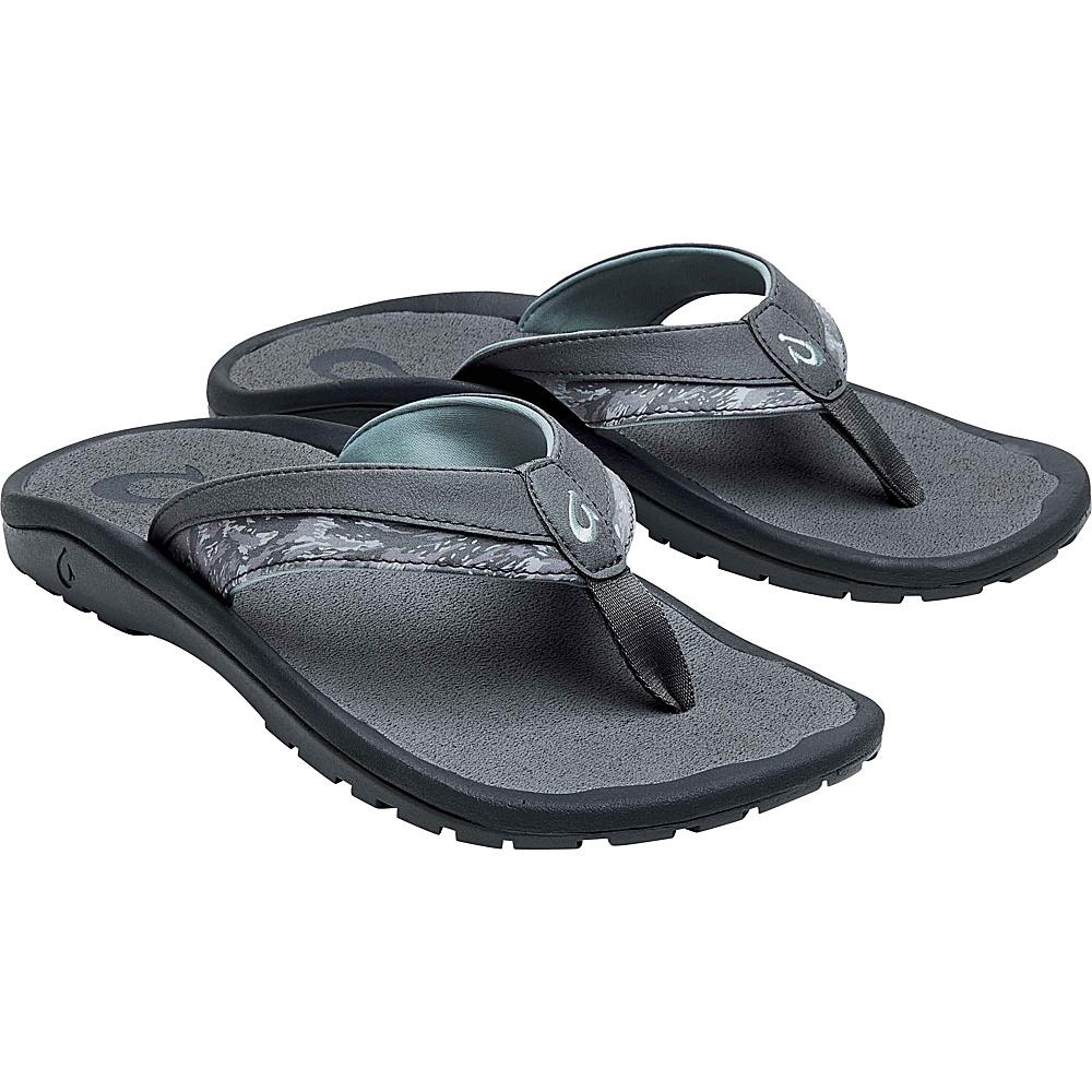OluKai Mens Ohana Koa Sandal 13 - Charcoal/Dive Camo - OluKai Mens Footwear - Apparel & Footwear, Men's Footwear