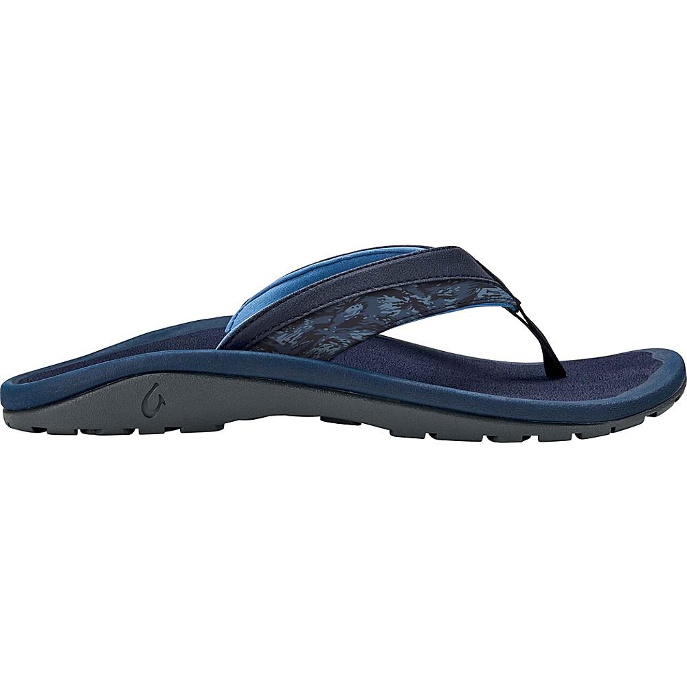 OluKai Mens Ohana Koa Sandal 14 - Trench Blue/Dive Camo - OluKai Mens Footwear - Apparel & Footwear, Men's Footwear