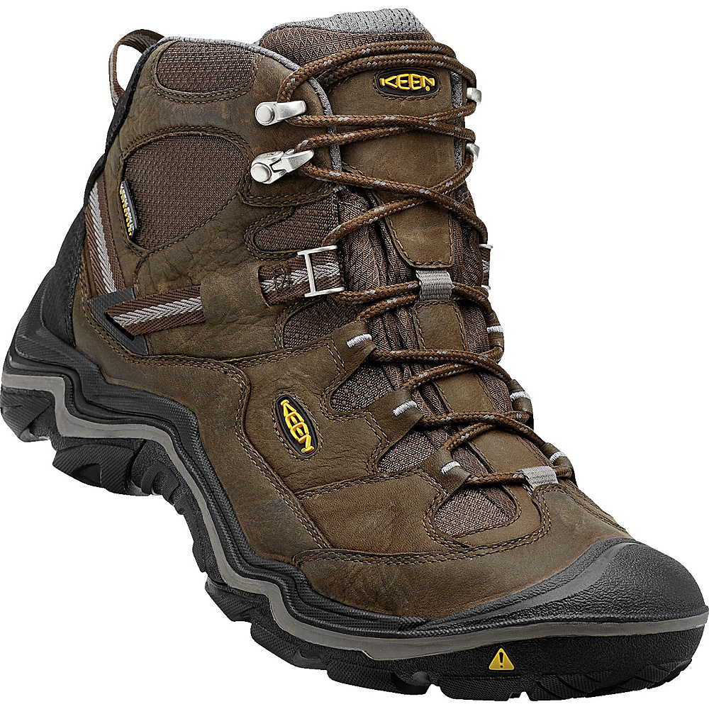 KEEN Mens Durand Mid WP Wide Hiking Boot 11.5 - Cascade Brown/Gargoyle - KEEN Mens Footwear - Apparel & Footwear, Men's Footwear