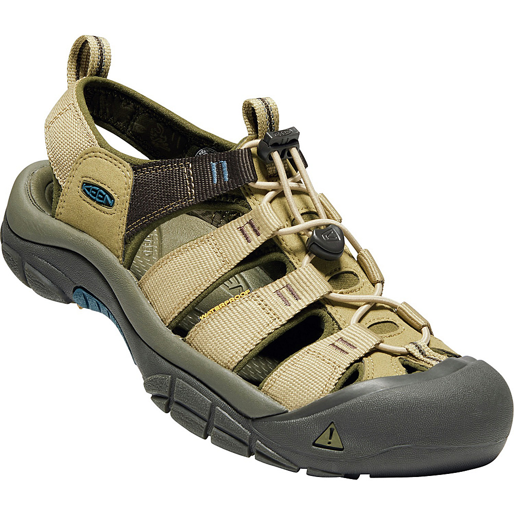 KEEN Mens Newport Hydro Sandals 8.5 - Antique Bronze/Safari - KEEN Mens Footwear - Apparel & Footwear, Men's Footwear