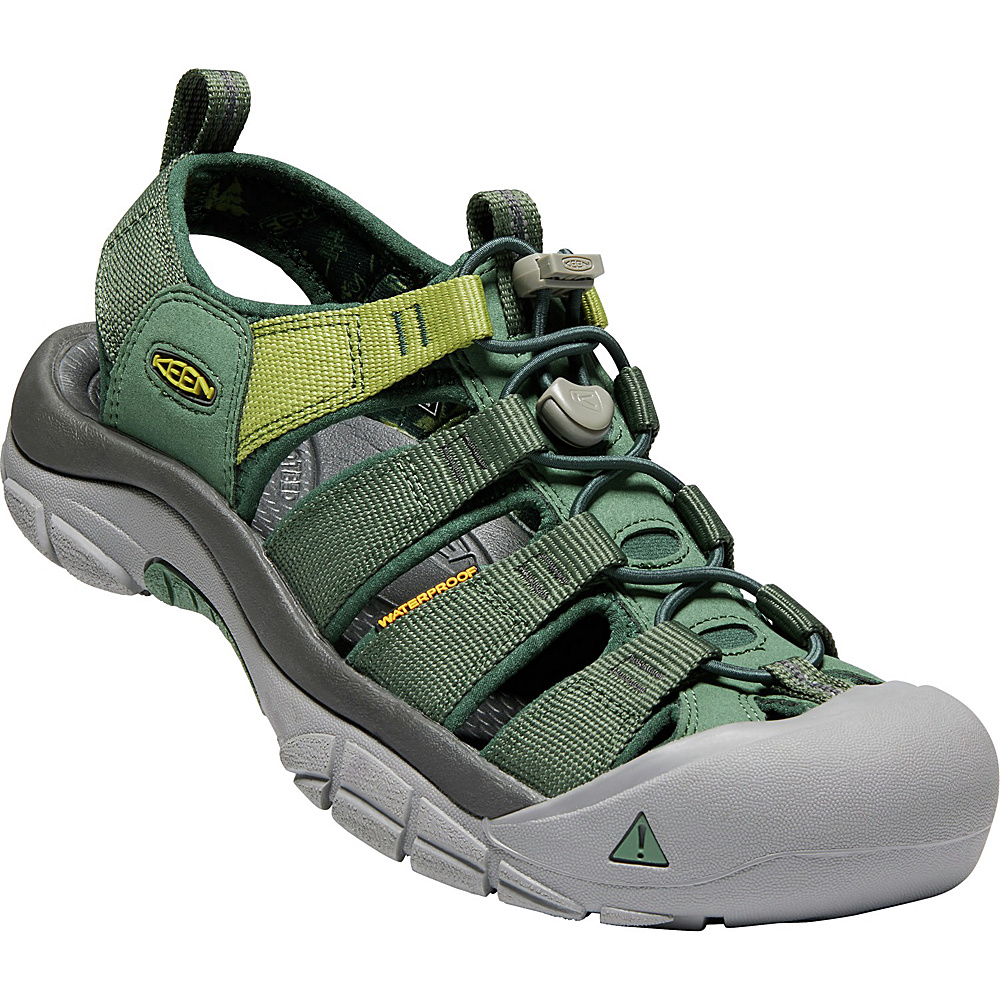 KEEN Mens Newport Hydro Sandals 9 - Duck Green/Darkest Spruce - KEEN Mens Footwear - Apparel & Footwear, Men's Footwear