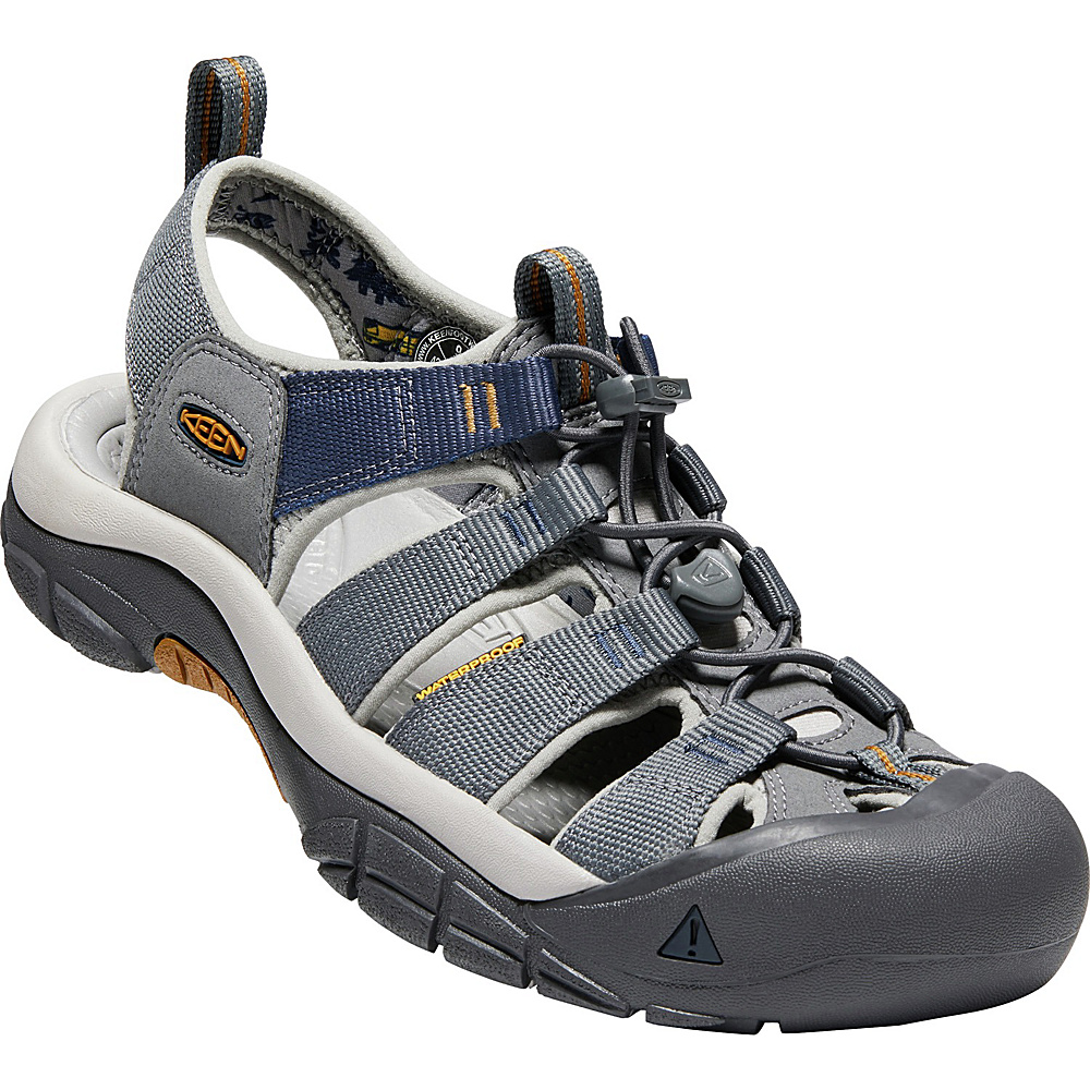 KEEN Mens Newport Hydro Sandals 9.5 - Steel Grey/Paloma - KEEN Mens Footwear - Apparel & Footwear, Men's Footwear