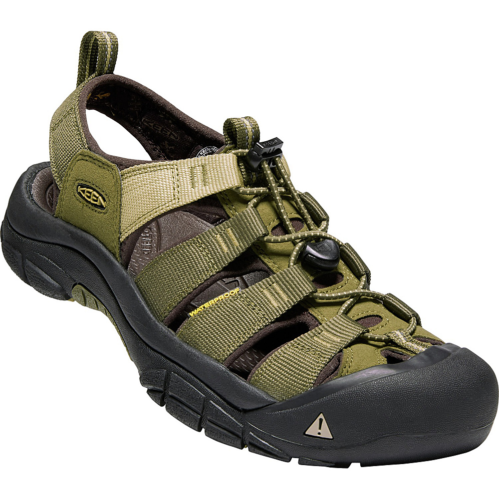 KEEN Mens Newport Hydro Sandals 8.5 - Dark Olive/Antique Bronze - KEEN Mens Footwear - Apparel & Footwear, Men's Footwear