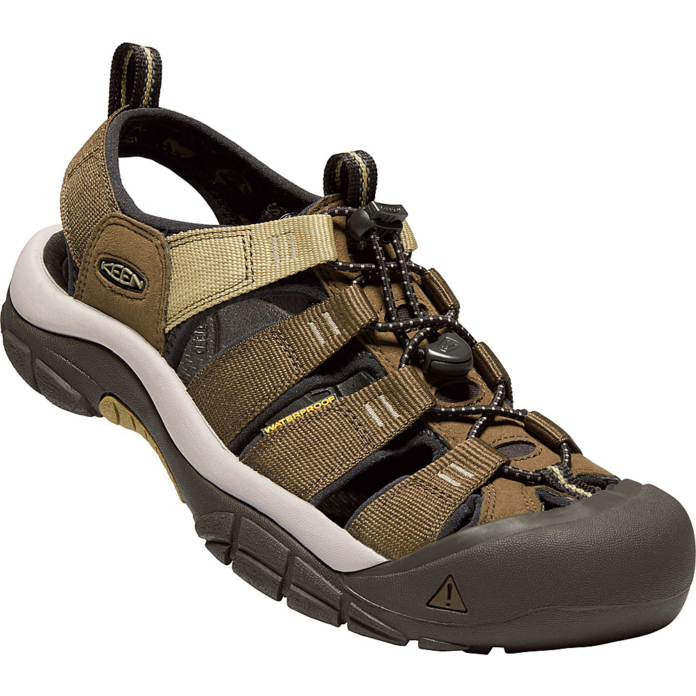 KEEN Mens Newport Hydro Sandals 9.5 - Mulch/Dark Earth - KEEN Mens Footwear - Apparel & Footwear, Men's Footwear