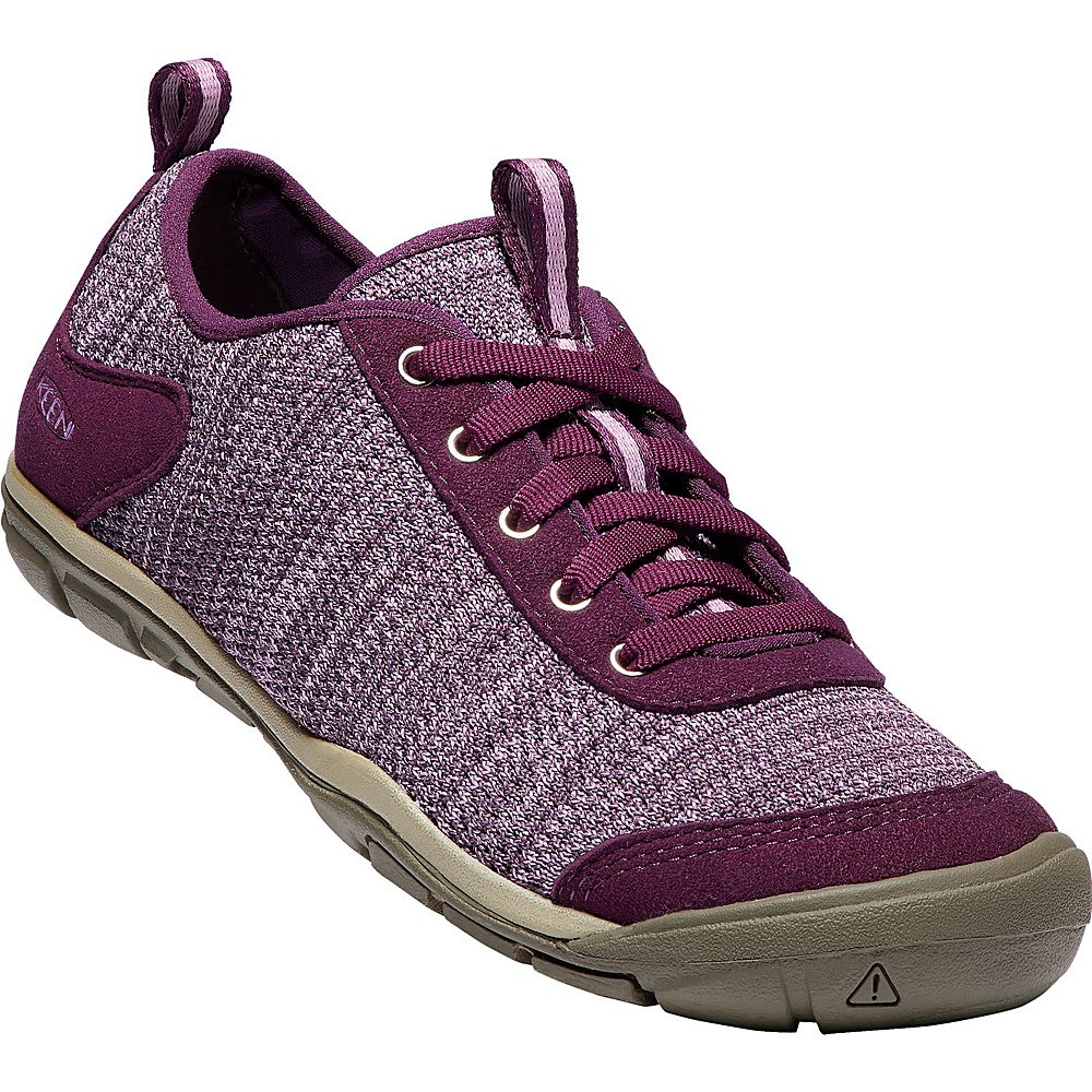 KEEN Womens Hush Knit Shoes 9.5 - Grape Wine/Lavender Herb - KEEN Womens Footwear - Apparel & Footwear, Women's Footwear