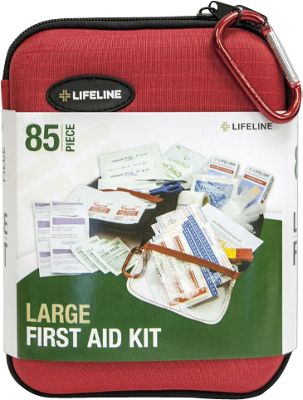Lifeline First Aid EVA First Aid Kit, 85 Piece Red - Lifeline First Aid Travel Health & Beauty