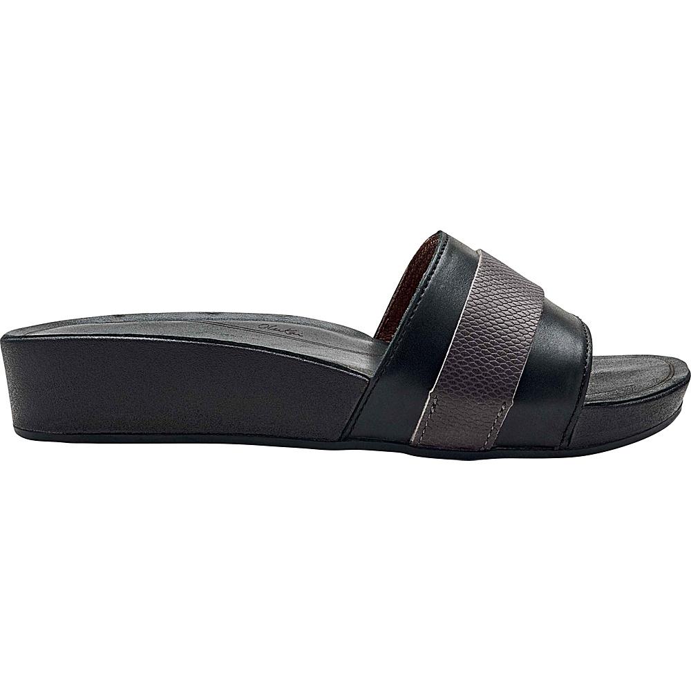 OluKai Womens Ola Huna Sandal 7 - Black/Dark Shadow - OluKai Womens Footwear - Apparel & Footwear, Women's Footwear