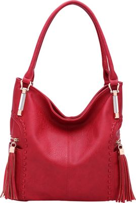 STYLE STRATEGY Janet Hobo Red - STYLE STRATEGY Manmade Handbags