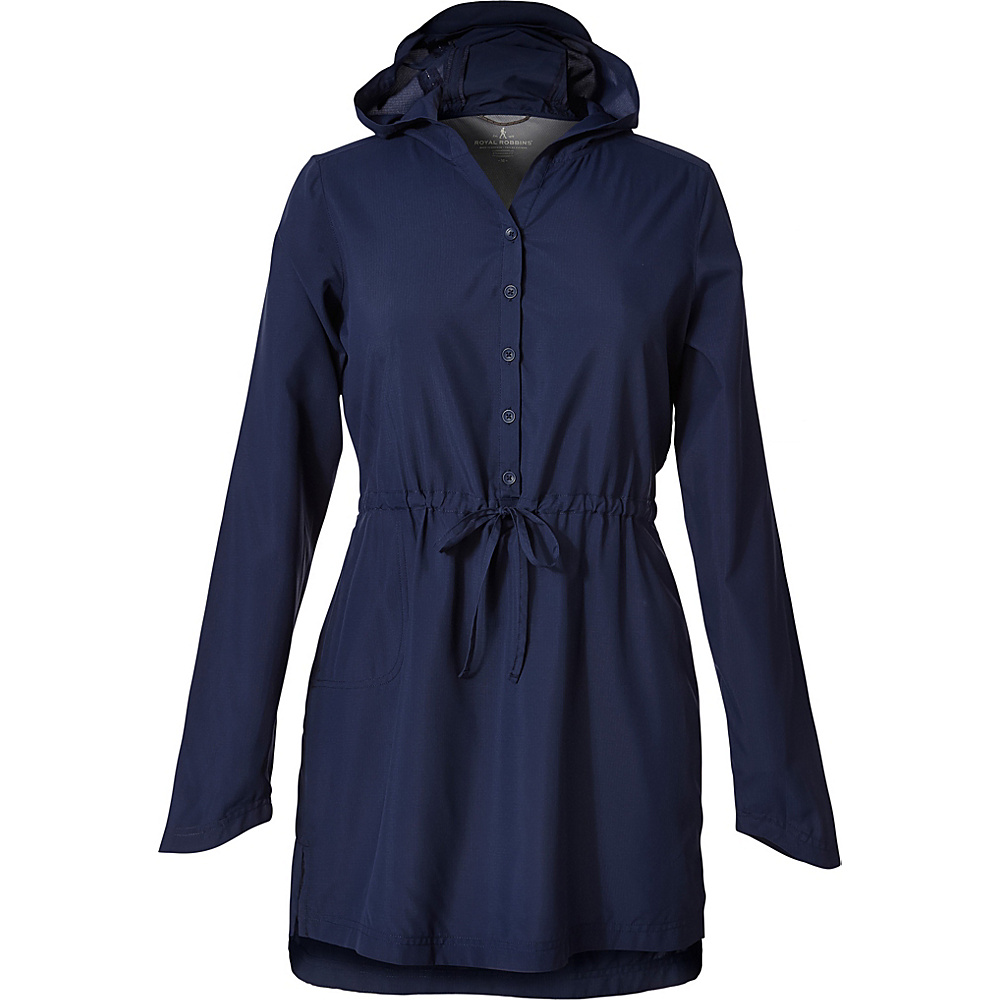 Royal Robbins Womens Bug Barrier Expedition Sun Tunic XS - Deep Blue - Royal Robbins Womens Apparel - Apparel & Footwear, Women's Apparel