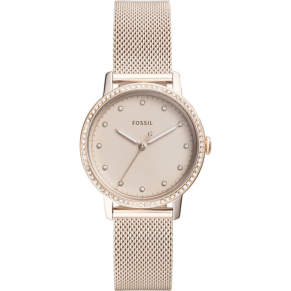 Fossil Neely Three-Hand Pastel Pink Stainless Steel Watch Pink - Fossil Watches - Fashion Accessories, Watches