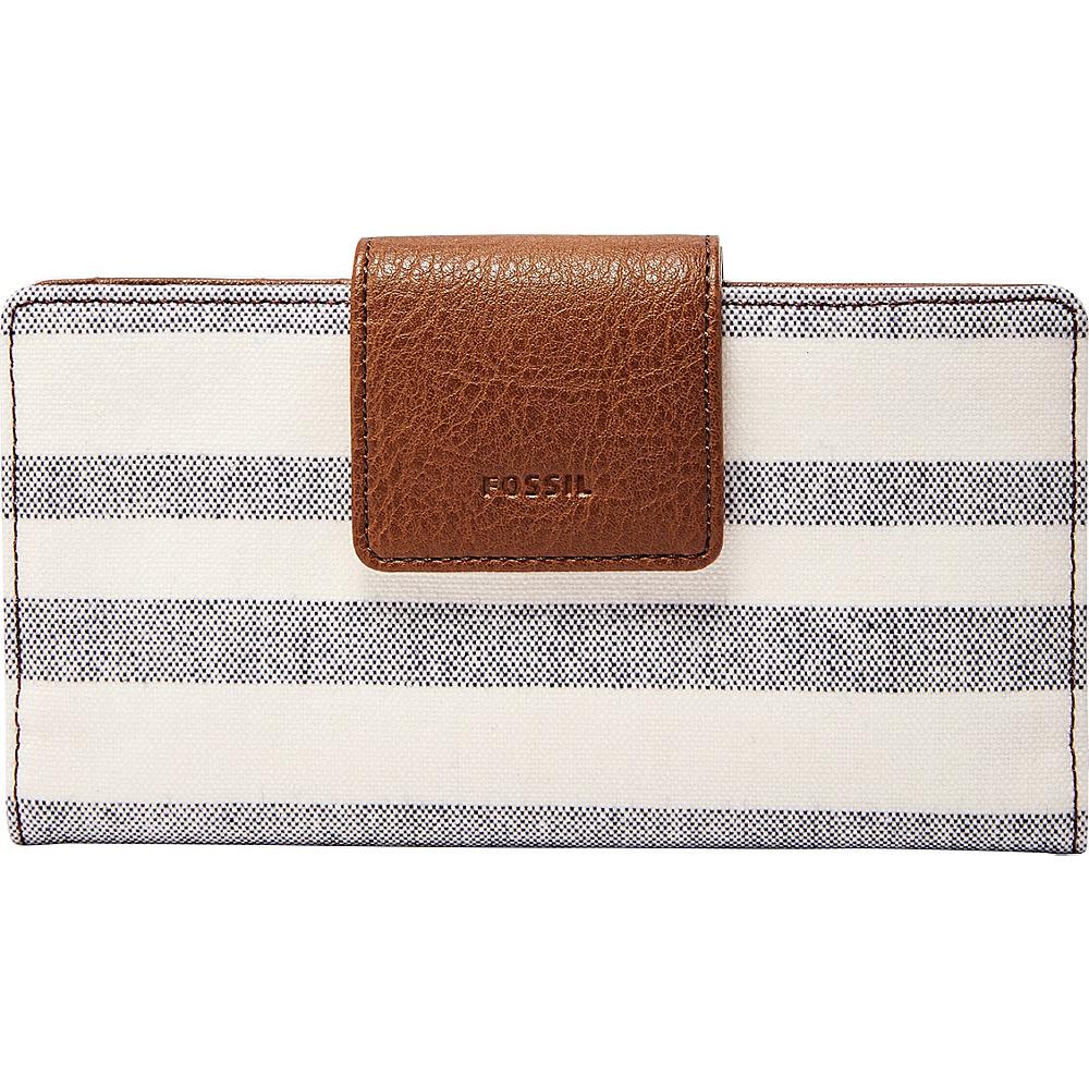 Fossil Emma RFID Tab Clutch Blue Stripe - Fossil Womens Wallets - Women's SLG, Women's Wallets