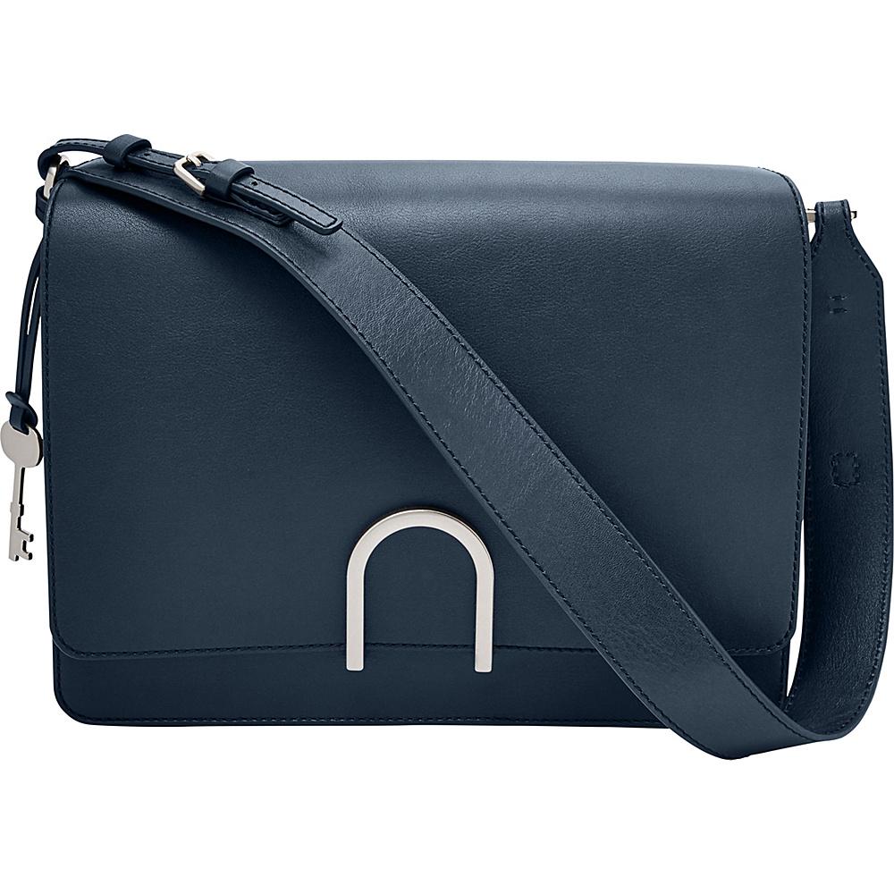 Fossil Finley Shoulder Bag Midnight Navy - Fossil Leather Handbags - Handbags, Leather Handbags