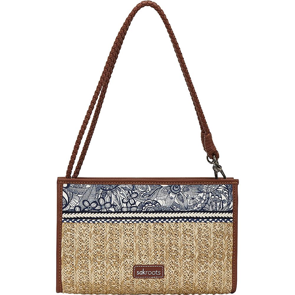 Sakroots Roma Mini Crossbody Navy Spirit Desert - Sakroots Fabric Handbags - Handbags, Fabric Handbags