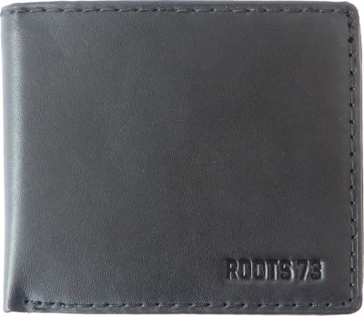Roots 73 Slimfold Wallet with Center Passcase Black - Roots 73 Men's Wallets
