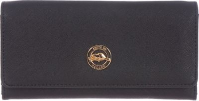 Roots 73 Slim Wallet with Zipper Pocket Black - Roots 73 Women's Wallets