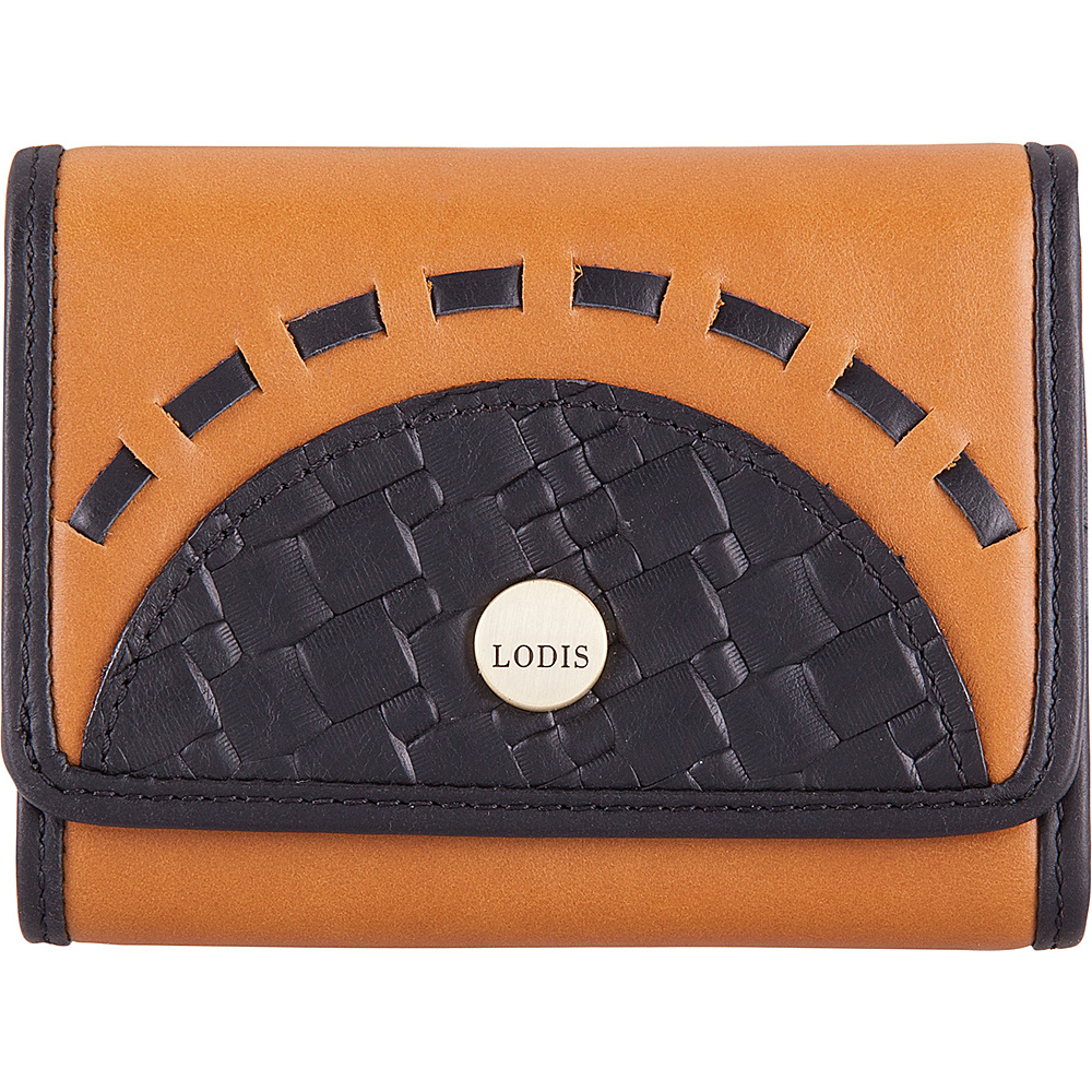 Lodis Rodeo Woven RFID Mallory French Purse Black - Lodis Womens Wallets - Women's SLG, Women's Wallets