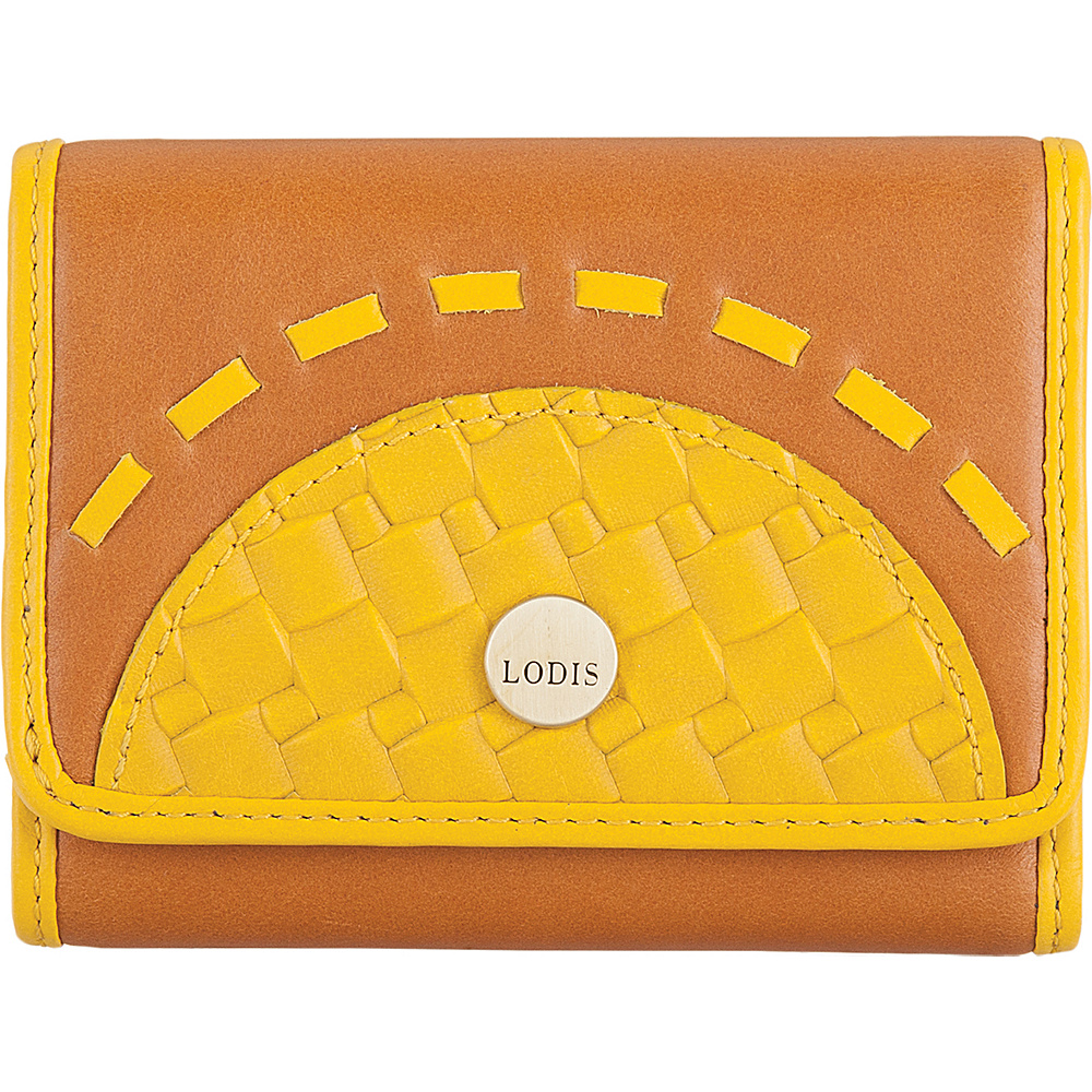Lodis Rodeo Woven RFID Mallory French Purse Yellow - Lodis Womens Wallets - Women's SLG, Women's Wallets