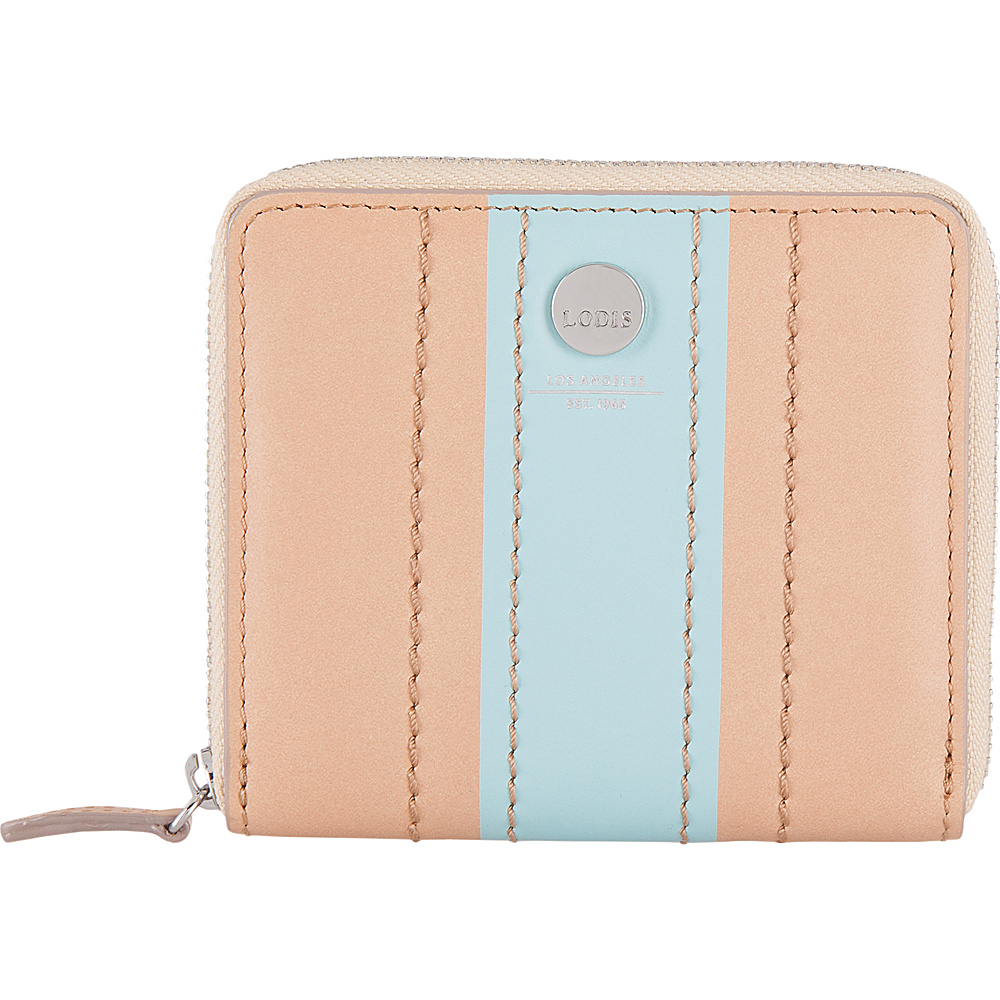 Lodis Rodeo Stripe RFID Amaya Zip French Wallet Beige - Lodis Womens Wallets - Women's SLG, Women's Wallets