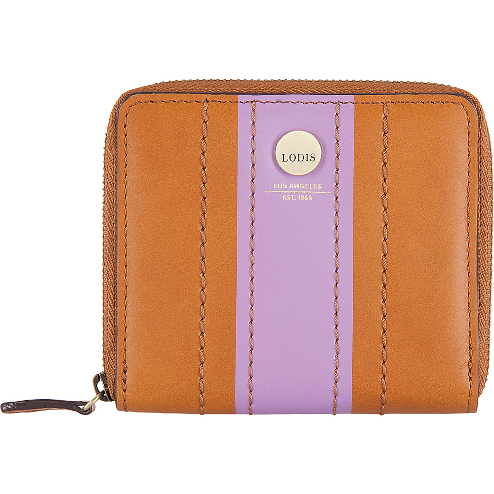 Lodis Rodeo Stripe RFID Amaya Zip French Wallet Toffee - Lodis Womens Wallets - Women's SLG, Women's Wallets
