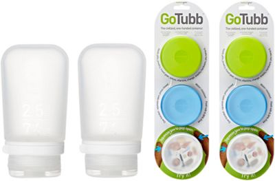 humangear GoTubb and GoToob+  Multi Pack Blue/Clear - humangear Travel Health & Beauty