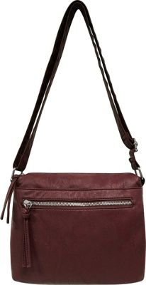 Bueno Textured Crossbody Berry - Bueno Manmade Handbags