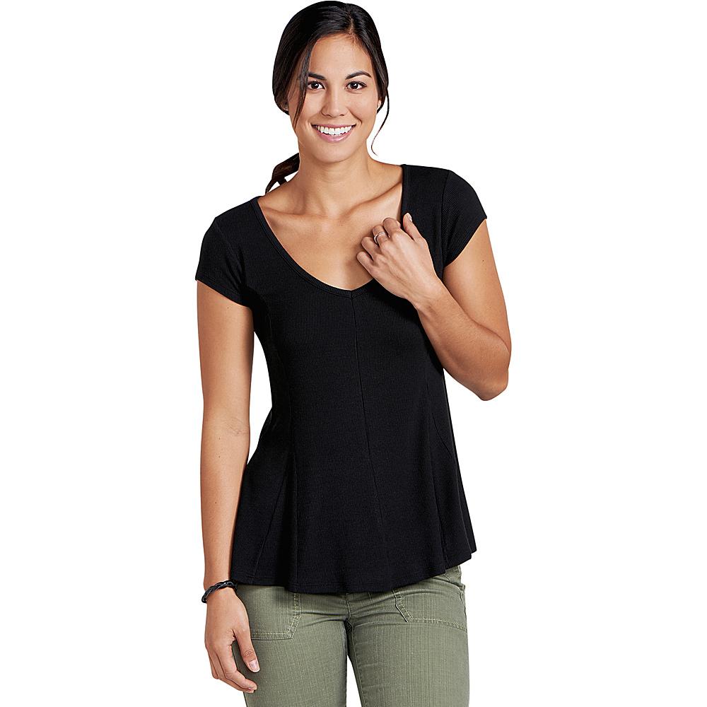 Toad & Co Womens Daisy Rib Short Sleeve Tee M - Black - Toad & Co Womens Apparel - Apparel & Footwear, Women's Apparel