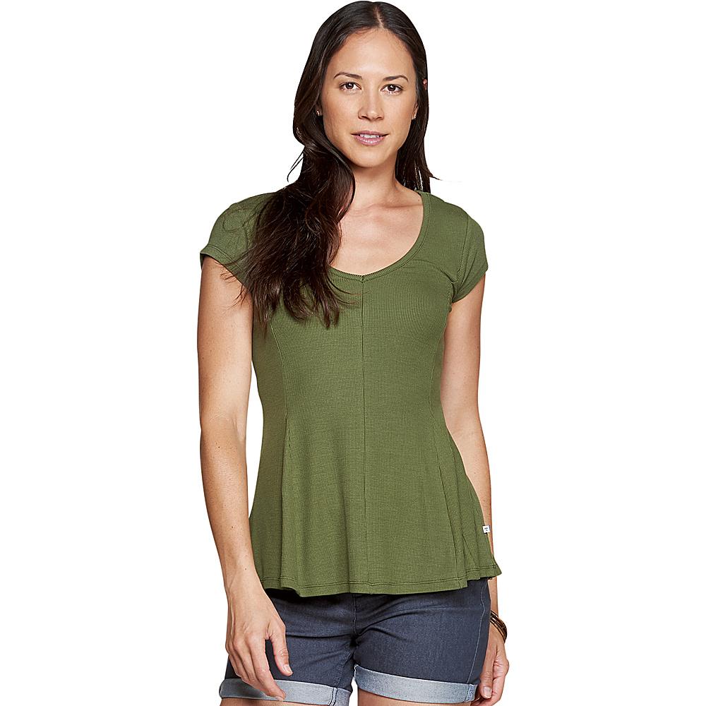 Toad & Co Womens Daisy Rib Short Sleeve Tee XS - Thyme - Toad & Co Womens Apparel - Apparel & Footwear, Women's Apparel