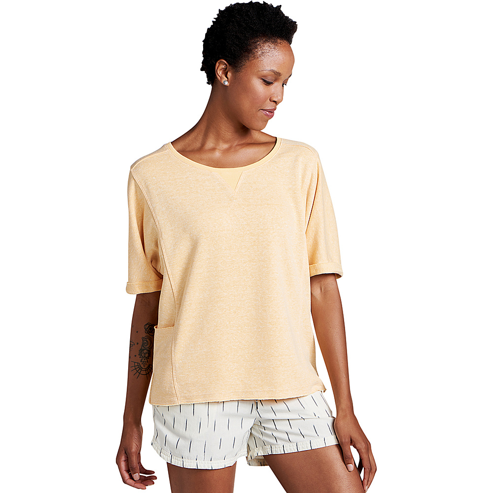 Toad & Co Womens Couvert Hemp Short Sleeve Pullover M - Polenta Heather - Toad & Co Womens Apparel - Apparel & Footwear, Women's Apparel