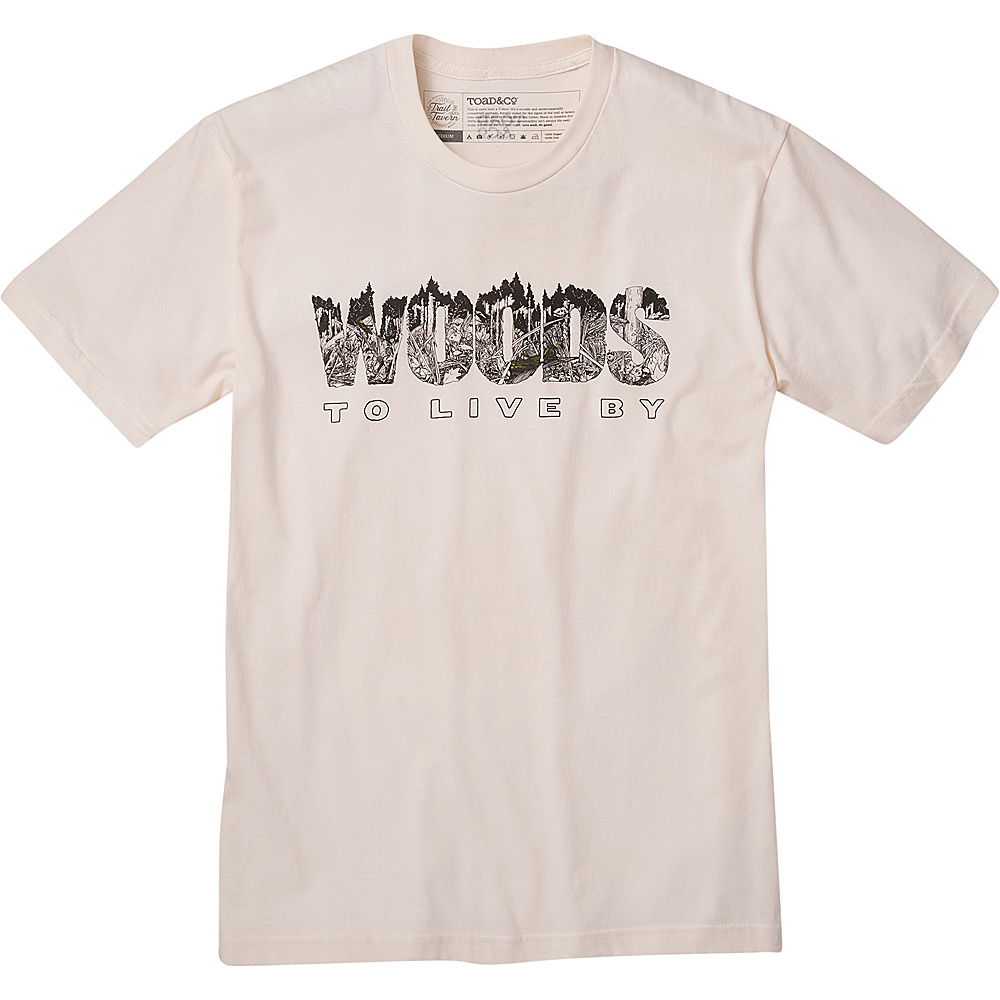 Toad & Co Mens Woods To Live By Graphic Tee XXL - Natural Heather - Toad & Co Mens Apparel - Apparel & Footwear, Men's Apparel