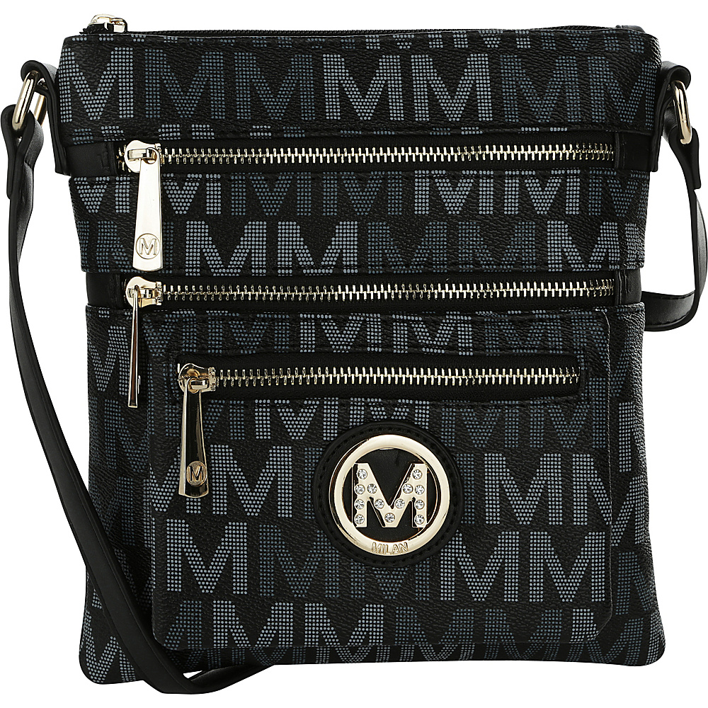 MKF Collection by Mia K. Farrow Beatrice M Signature Multi-Compartment Crossbody Black - MKF Collection by Mia K. Farrow Manmade Handbags - Handbags, Manmade Handbags