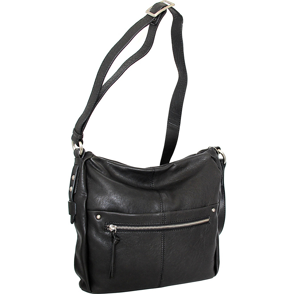 Nino Bossi Piper Crossbody Black - Nino Bossi Leather Handbags - Handbags, Leather Handbags