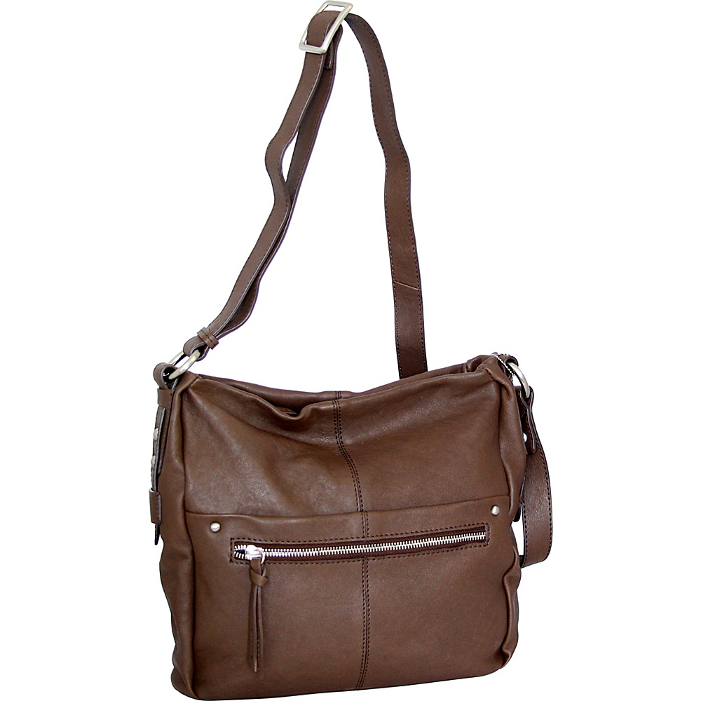 Nino Bossi Piper Crossbody Brown - Nino Bossi Leather Handbags - Handbags, Leather Handbags