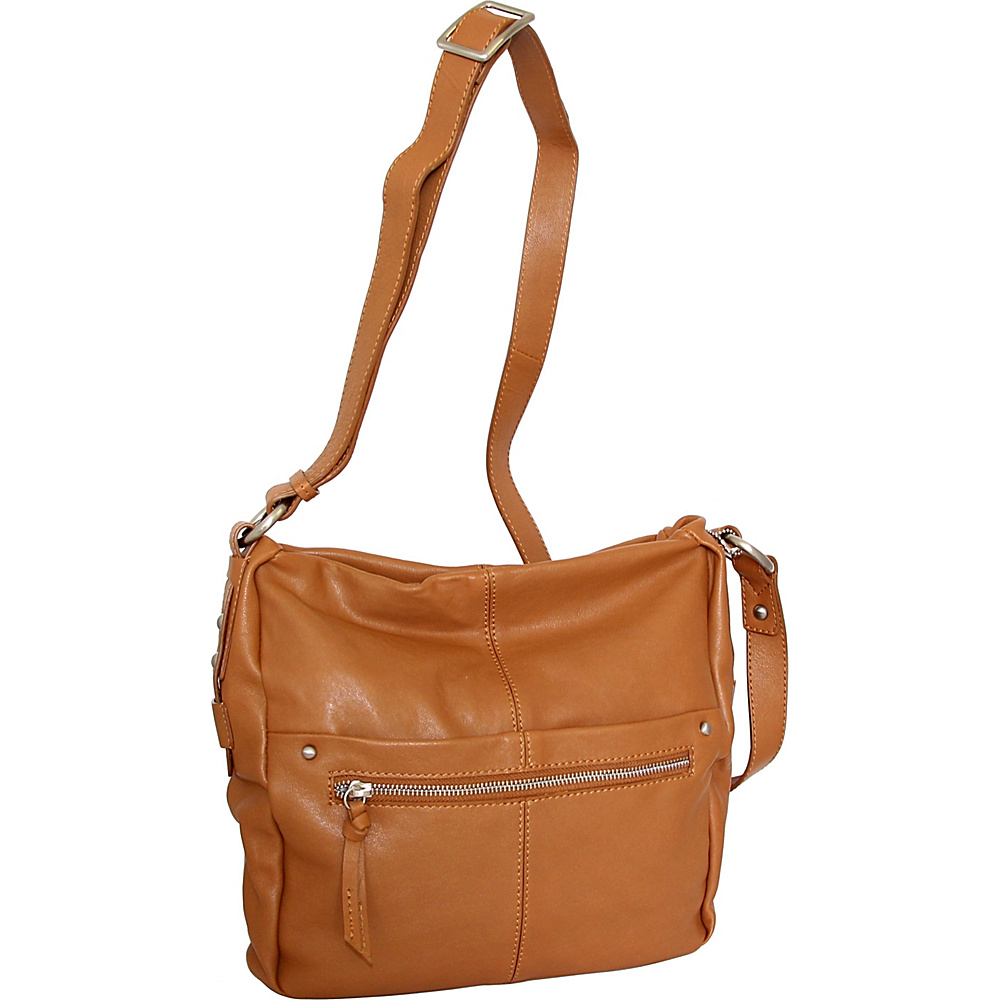 Nino Bossi Piper Crossbody Cognac - Nino Bossi Leather Handbags - Handbags, Leather Handbags