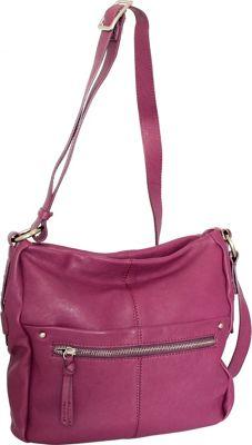 Nino Bossi Piper Crossbody Plum - Nino Bossi Leather Handbags