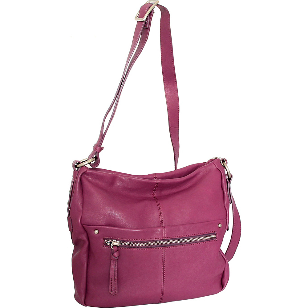 Nino Bossi Piper Crossbody Plum - Nino Bossi Leather Handbags - Handbags, Leather Handbags