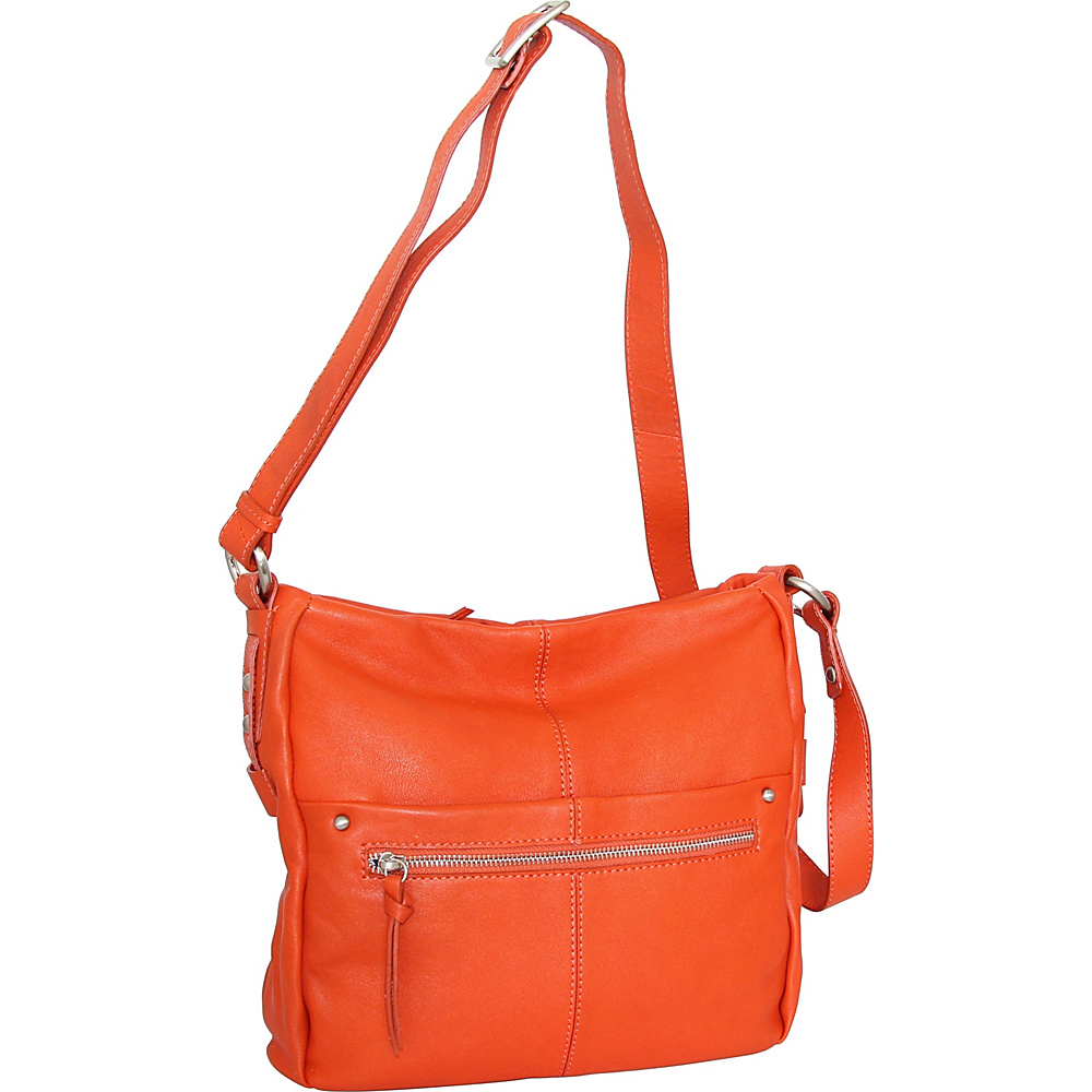 Nino Bossi Piper Crossbody Tangerine - Nino Bossi Leather Handbags - Handbags, Leather Handbags