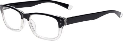 Select-A-Vision Optitek Hi-Tech Readers +1.25 - Black Clear - Select-A-Vision Sunglasses