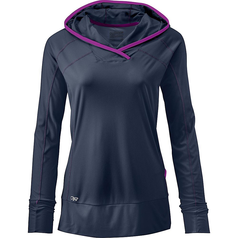 Outdoor Research Womens Echo Hoody L - Night/Ultraviolet - Outdoor Research Womens Apparel - Apparel & Footwear, Women's Apparel