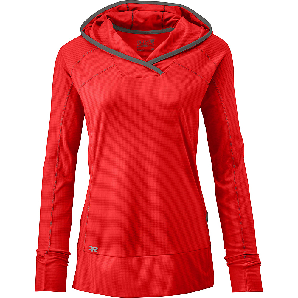 Outdoor Research Womens Echo Hoody S - Samba/Pewter - Outdoor Research Womens Apparel - Apparel & Footwear, Women's Apparel