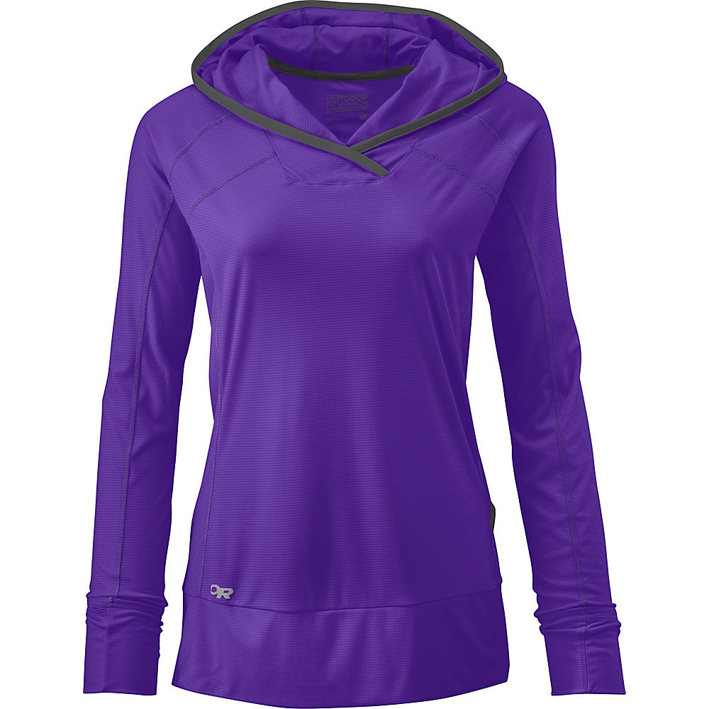 Outdoor Research Womens Echo Hoody L - Purple Rain/Charcoal - Outdoor Research Womens Apparel - Apparel & Footwear, Women's Apparel